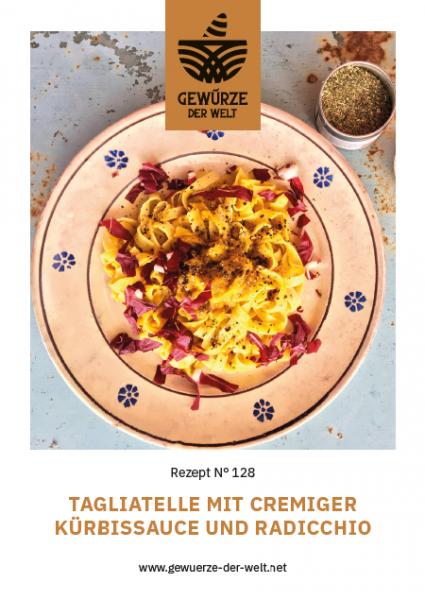 Rezeptkarte N°128 Tagliatelle mit cremiger Kürbissauce