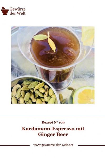 Rezeptkarte N°109 Kardamom-Espresso