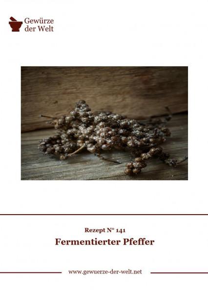 Rezeptkarte N°141 Fermentierter Pfeffer