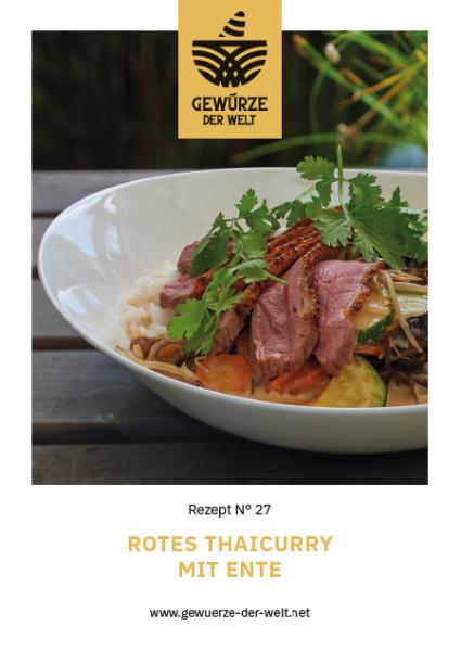 Rezeptkarte N°27 Rotes Thaicurry mit Ente