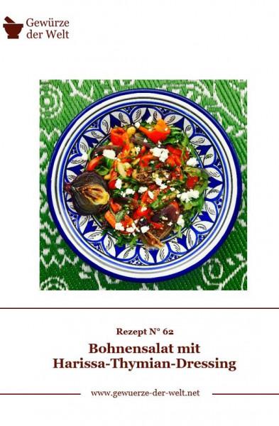 Rezeptkarte N°62 Bohnensalat mit Harissa-Thymian-Dressing