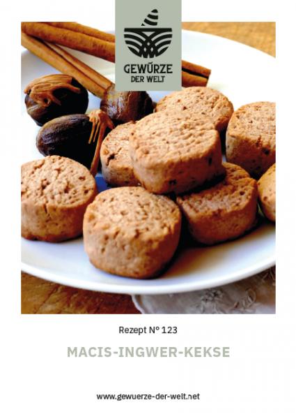 Rezeptkarte N°123 Macis-Ingwer-Kekse