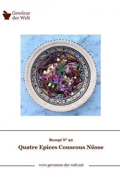Rezeptkarte N°92 Quatre Epices Couscous Nüsse
