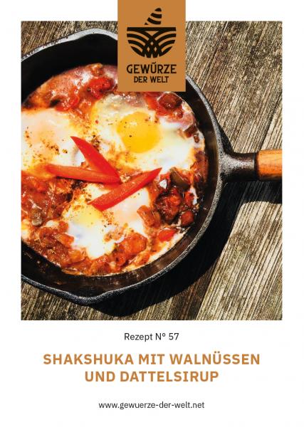 Rezeptkarte N°57 Shakshuka mit Walnüssen