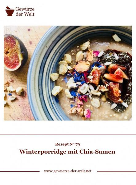 Rezeptkarte N°79 Winterporridge mit Chia