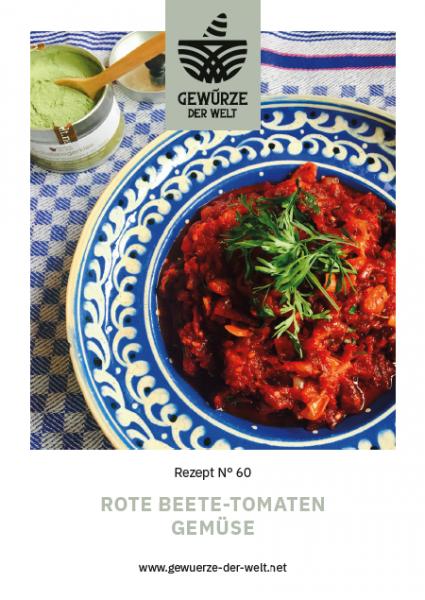 Rezeptkarte N°60 Rote Beete-Tomaten Gemüse