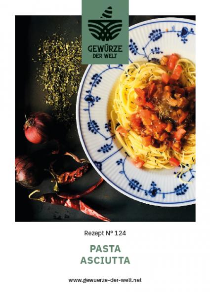 Rezeptkarte N°124 Pasta Asciutta