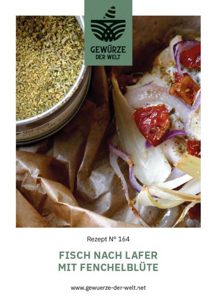 Rezeptkarte N°164 Fisch nach Lafer mit Fenchelblüte