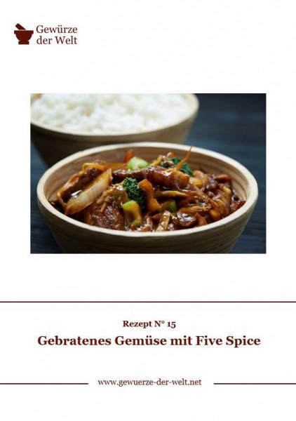 Rezeptkarte N°15 Gebratenes Gemüse mit Five Spice