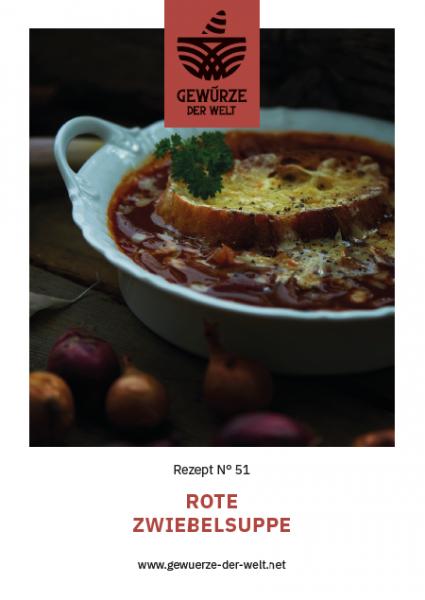 Rezeptkarte N°51 rote Zwiebelsuppe