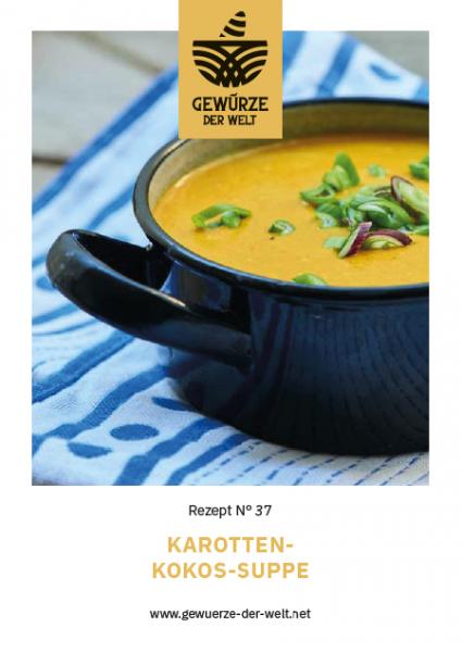 Rezeptkarte N°37 Karotten-Kokos-Suppe