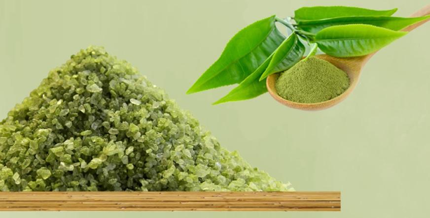 Matcha-Salz