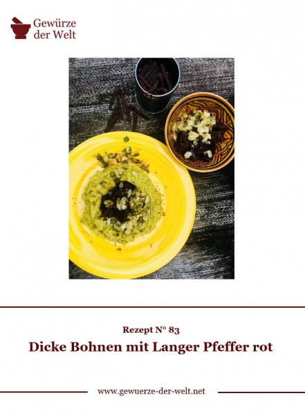 Rezeptkarte N°83 Dicke Bohnen Langer Pfeffer rot