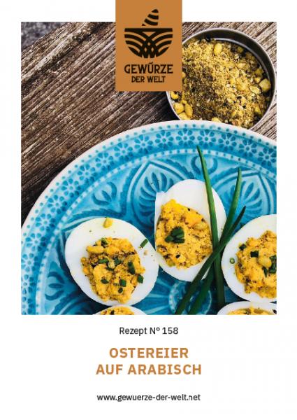 Rezeptkarte N°158 Ostereier auf Arabisch
