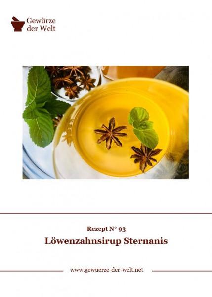 Rezeptkarte N°93 Löwenzahnsirup Sternanis