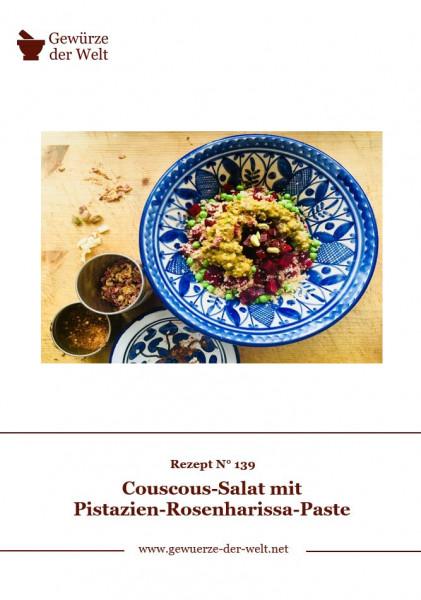 Rezeptkarte N°139 Pistazien-Rosenharissa-Paste