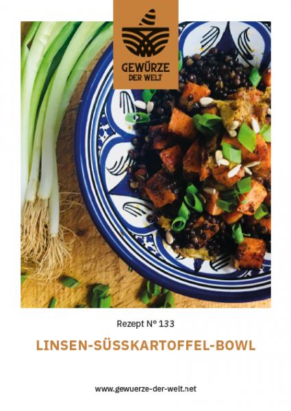 Rezeptkarte N°133 Linsen-Süßkartoffel-Bowl