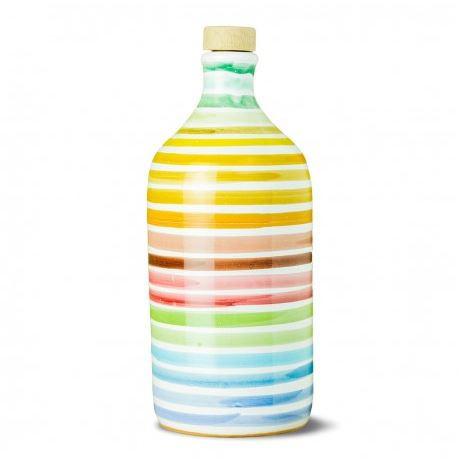 Natives Olivenöl Extra Vergine Keramisches Glas Regenbogen