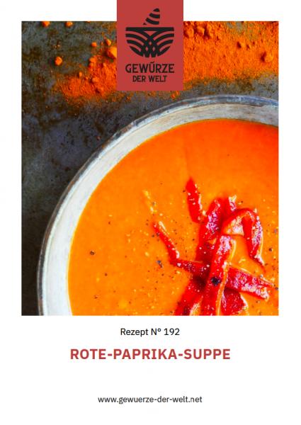 Rezeptkarte N°192 Rote-Paprika-Suppe