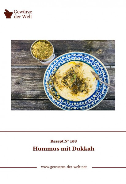 Rezeptkarte N°108 Hummus mit Dukkah